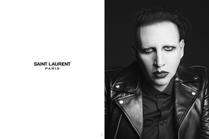 Marilyn Manson per Saint Laurent