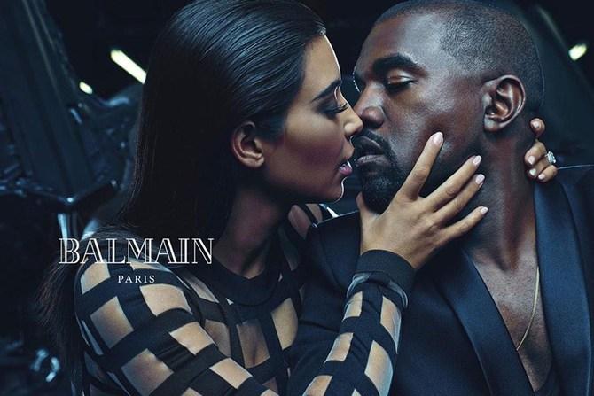 Kanye West per Balmain
