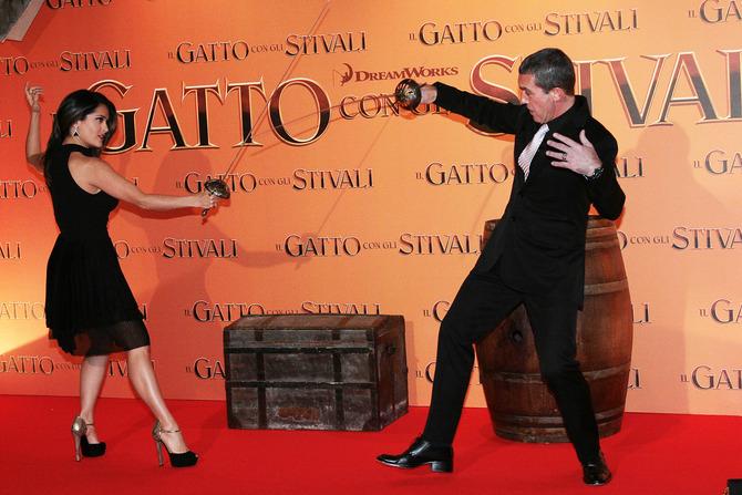 Salma Hayek e Antonio Banderas a Roma
