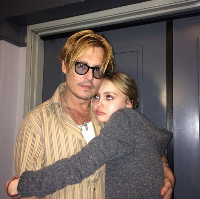 Lily-Rose Depp e Johnny Depp