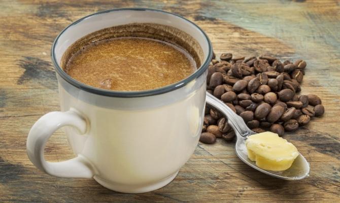 Caffè, tazza, burro