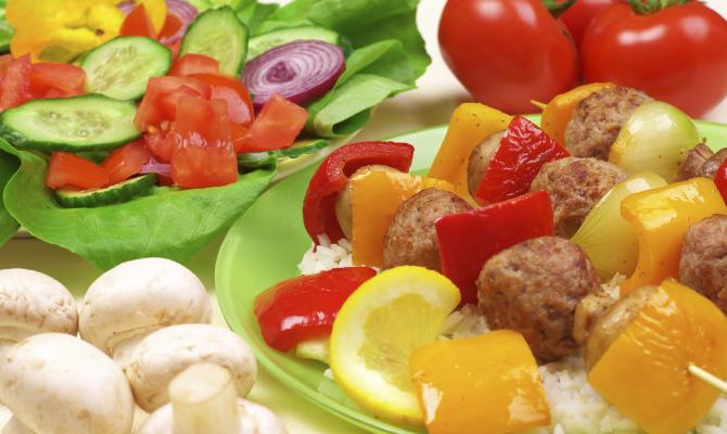 carne e vegetali