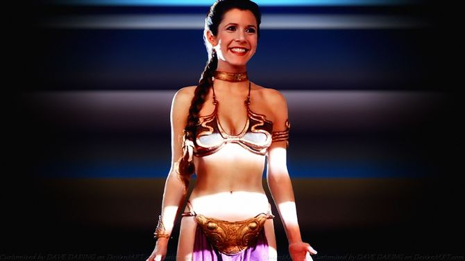 Carrie Fisher principessa sexy