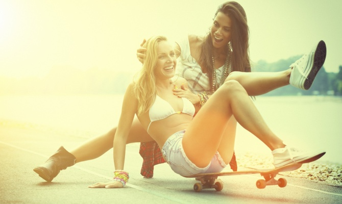 ragazze, skateboard