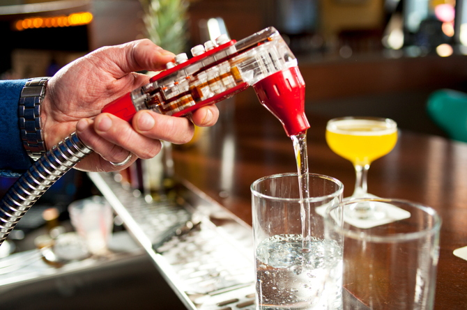 Soda al bar
