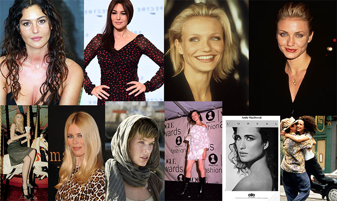 Dieci modelle passate al cinema