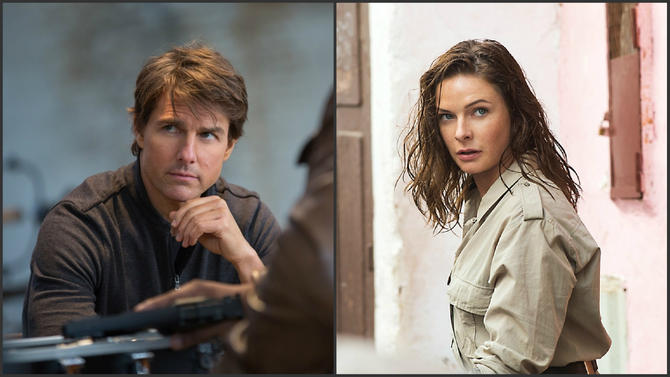Tom Cruise e Rebecca Ferguson in Mission: Impossible - Rogue Nation