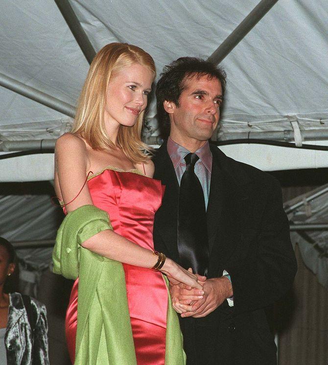 Claudia Schiffer e David Copperfield
