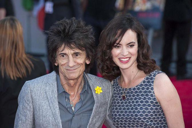 Ronnie Wood e  Sally Humphreys