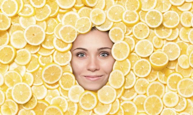 limone, donna, agrumi