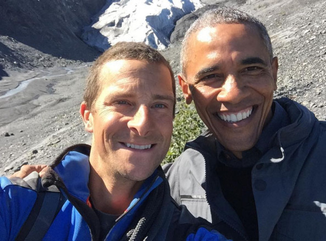 Bear Grylls e Barack Obama