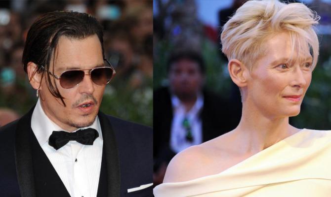 Johnny Depp e Tilda Swinton