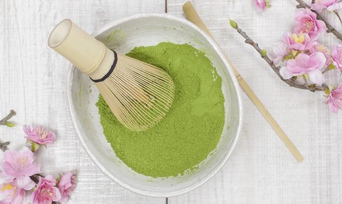te verde, te, maschera
