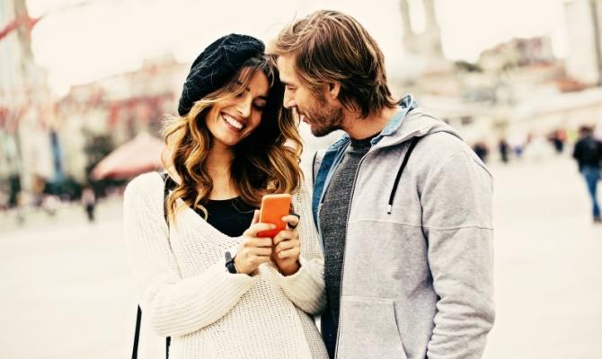 Flirtare, coppie, appuntamento, innamorati