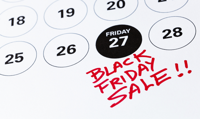Calendario black Friday