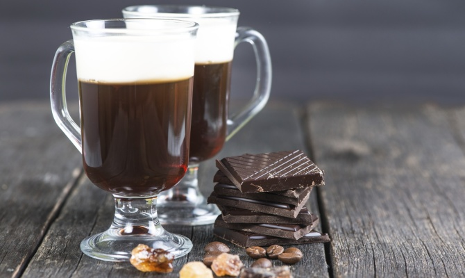 irish coffee, drink, bicchieri