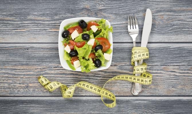 insalata, metro, dieta, piatto