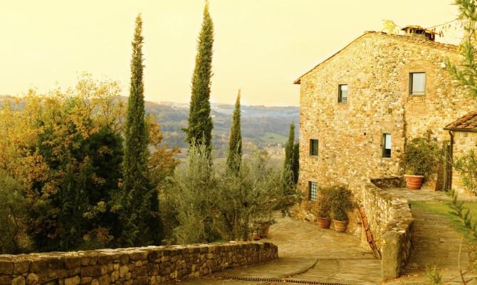 Un agriturismo in Toscana