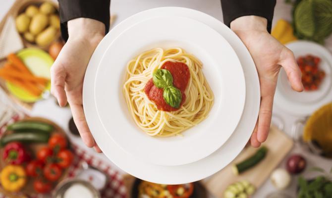 Piatto di spaghetti