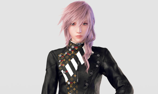 Lightning di Final Fantasy testimonial virtuale per la moda