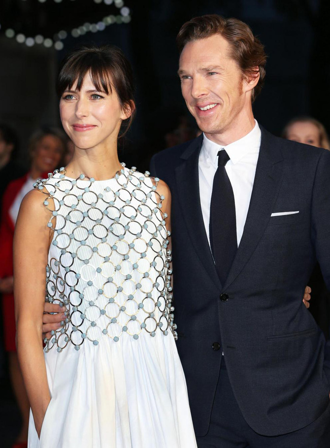 Cumberbatch e signora