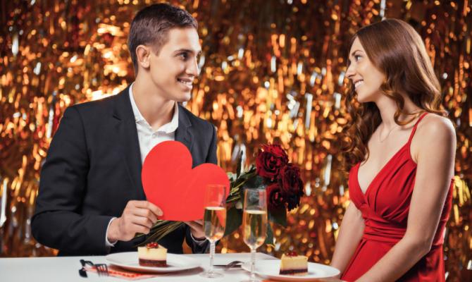 Coppia a cena San Valentino