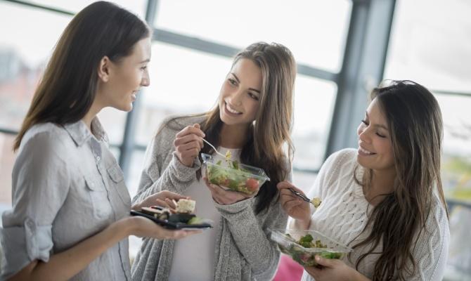 amiche, dieta, cibo