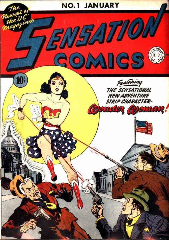 La prima copertina dei fumetti (1942)