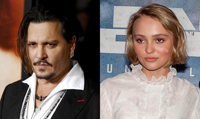 Johnny e Lily-Rose Depp