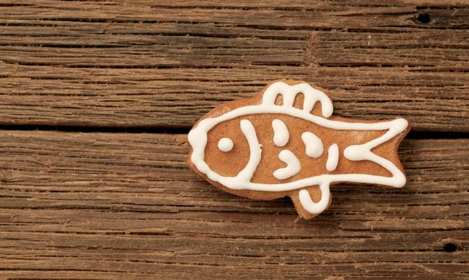 Biscotti a forma di pesce