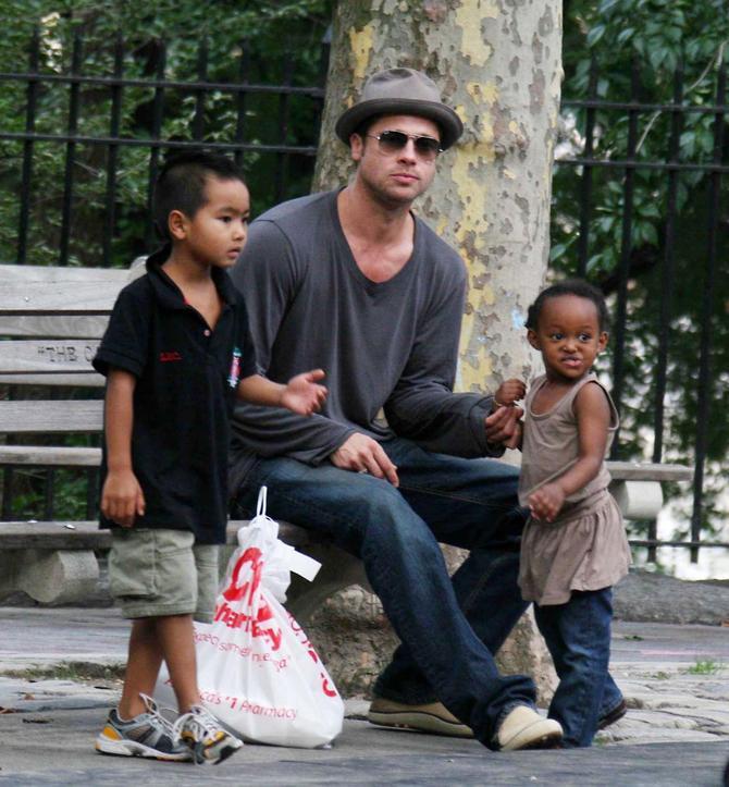 Brad Pitt e i papà più hot di Hollywood