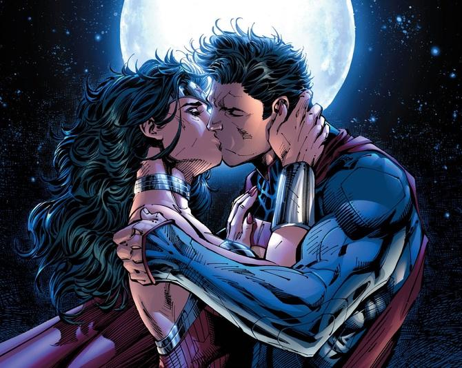 La passione tra Wonder Woman e Superman
