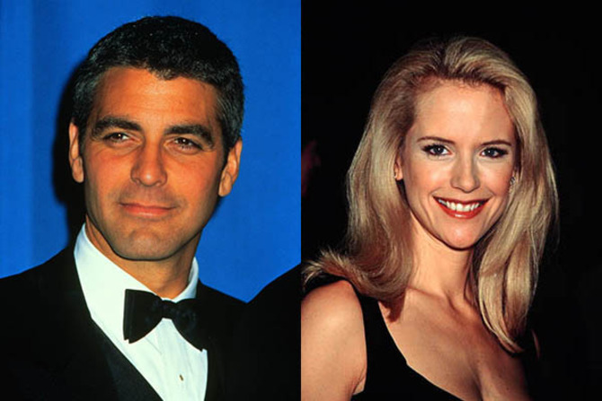 George Clooney e Kelly Preston