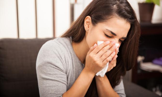 Donna allergica