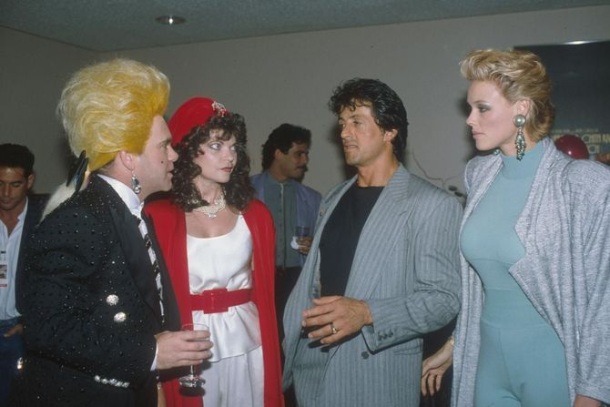 Sylvester Stallone e Brigitte Nielsen