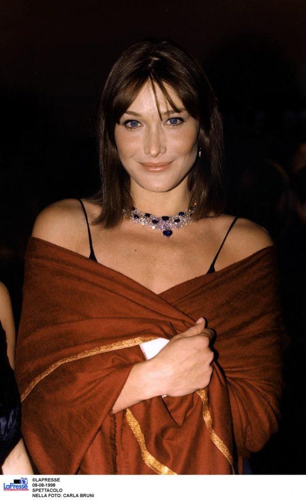Carla Bruni nel 1998