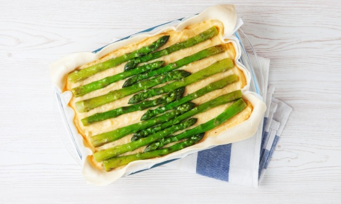 Sformato veg di pane e asparagi