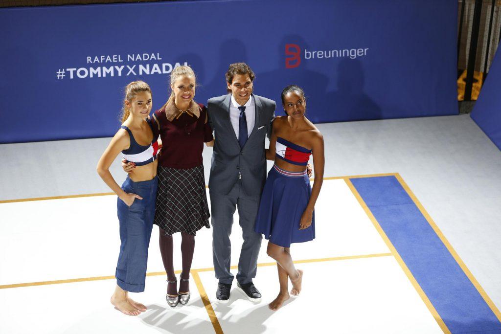 Stefanie Giesinger, Alena Gerber, Rafael Nadal e Sara Nuru al lancio della collezione Tommy Hilfiger