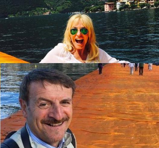 Antonella Clerici e Giacomo Poretti