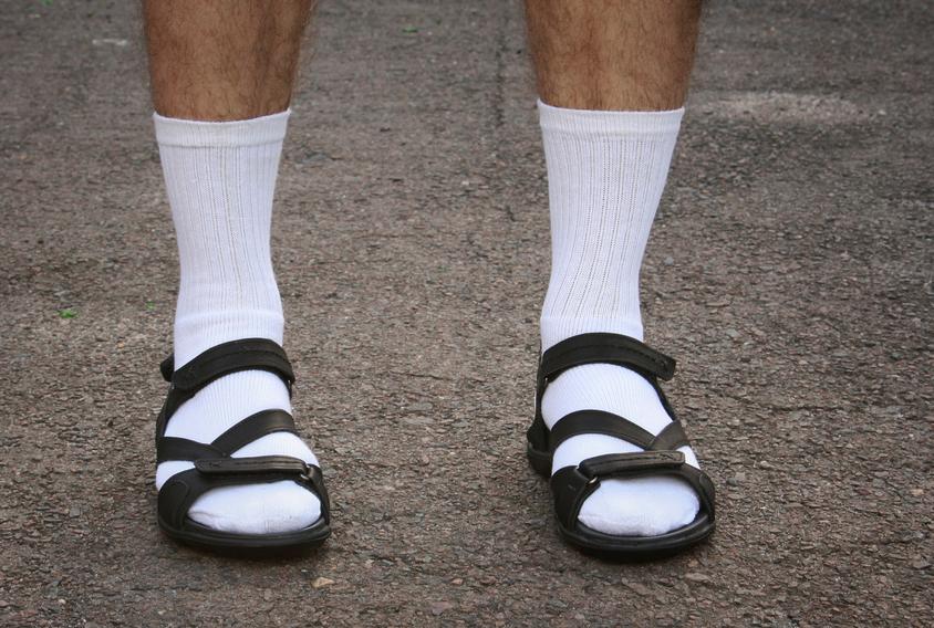 Sandali da uomo. Rigorosamente senza calzini