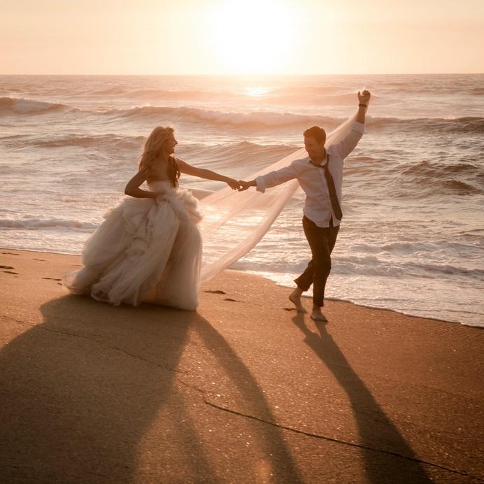 Sposi sulla spiaggia