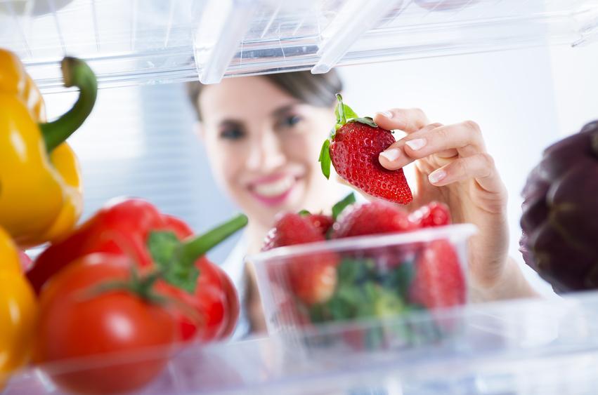 Fragole in frigorifero