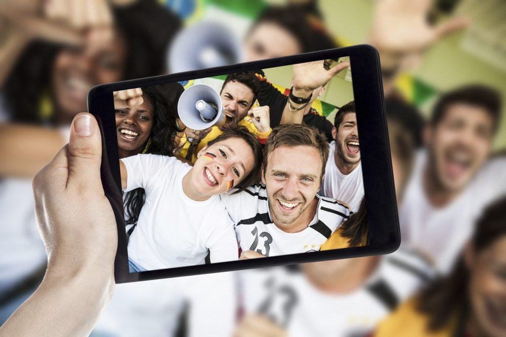 Selfie allo stadio