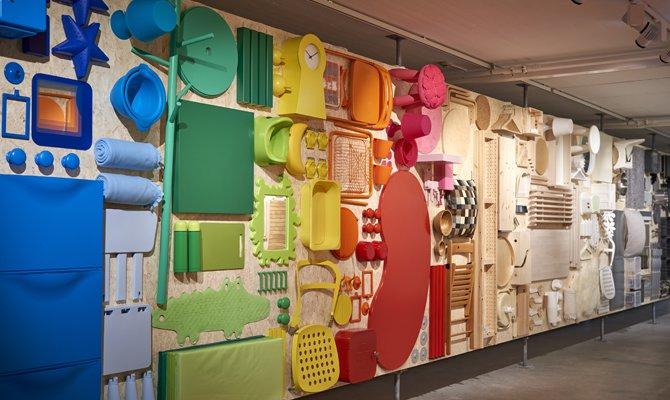Esposizione oggetti Ikea