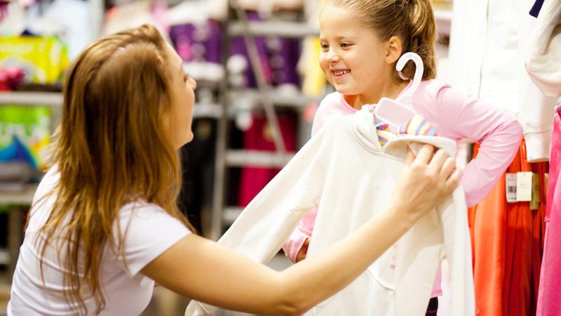 Shopping madre e figlia