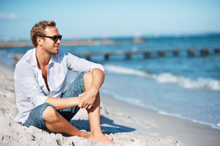 Uomo moda vacanza