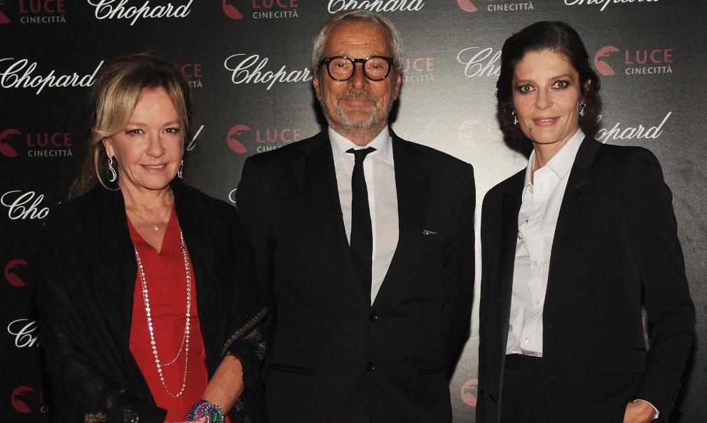 Caroline Scheufele, Roberto Cicutto and Chiara Mastroianni in Chopard