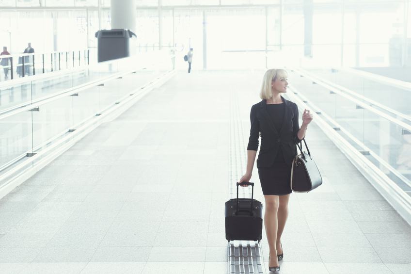Businesswoman in trasferta