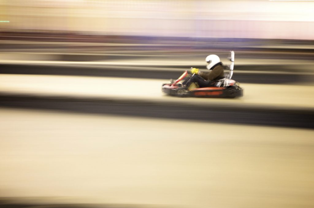 Karting, stile ad alta velocità