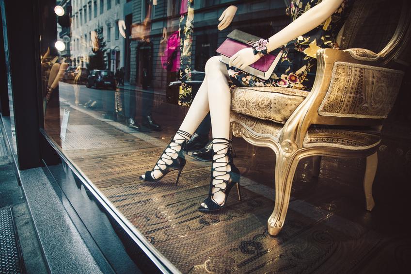 Una boutique nel quadrilatero della moda, a Milano